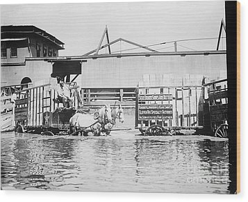 Flooding On The Mississippi River, 1909 Wood Print by Library of Congress