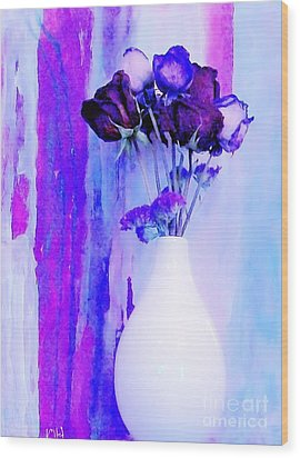Floral Abstract Signed Wood Print by Marsha Heiken