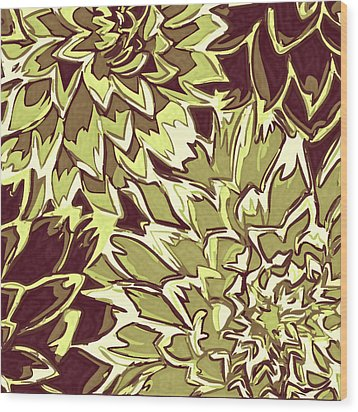 Floral Abstraction 19 Wood Print by Sumit Mehndiratta