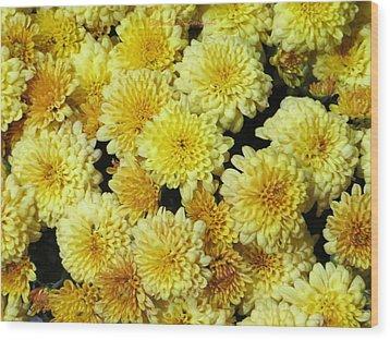 Floral Carpet Wood Print by Sonali Gangane