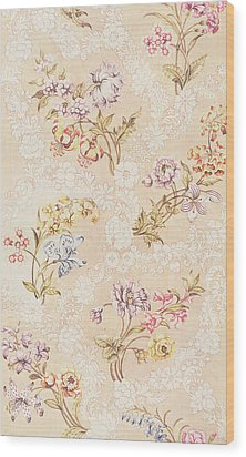 Floral Design With Peonies Lilies And Roses Wood Print by Anna Maria Garthwaite