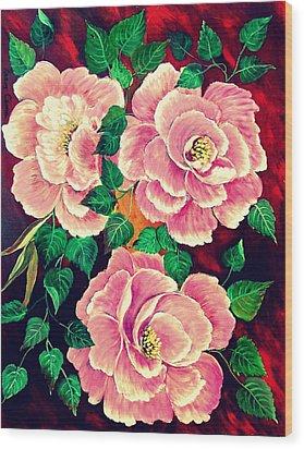 Floral Wood Print by Fram Cama