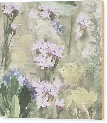 Floral Montage No. 4 Wood Print by Bonnie Bruno