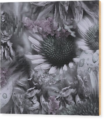 Floral Montage No.1 Wood Print by Bonnie Bruno