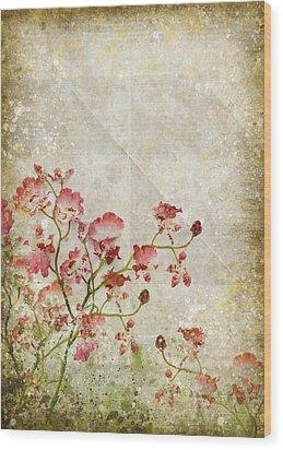 Floral Pattern Wood Print by Setsiri Silapasuwanchai