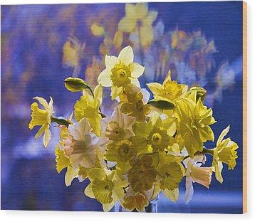Floral Reflections Wood Print by Jo-Anne Gazo-McKim
