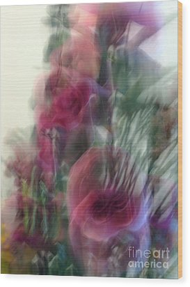 Florals In Motion 2 Wood Print by Cedric Hampton