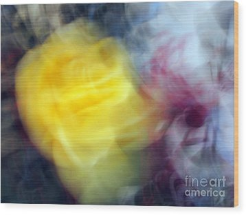 Florals In Motion 3 Wood Print by Cedric Hampton