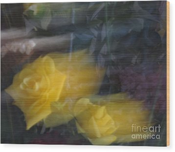 Florals In Motion 7 Wood Print by Cedric Hampton