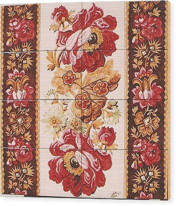 Florao Vermelho Wood Print by Paula Teresa