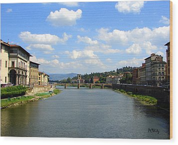 Wood Print featuring the photograph Florence Arno River by Patrick Witz