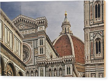 Wood Print featuring the photograph Florence Duomo by Steven Sparks