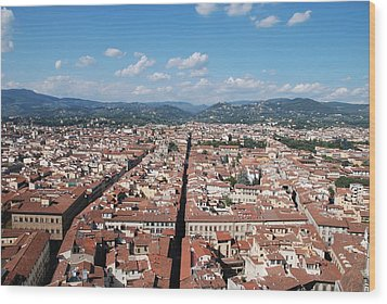 Florence From The Duomo Wood Print by Dany Lison