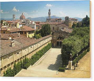 Florence Italy - Pitti Palace - 02 Wood Print by Gregory Dyer