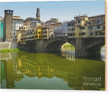 Florence Italy - Ponte Vecchio - 05 Wood Print by Gregory Dyer