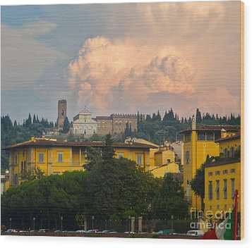 Florence Italy - San Miniato Al Monte Wood Print by Gregory Dyer