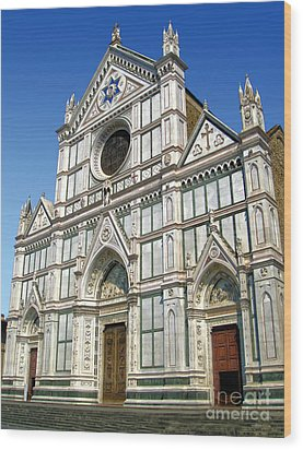 Florence Italy - Santa Croce - 02 Wood Print by Gregory Dyer