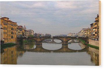 Florence Italy Bridge Wood Print