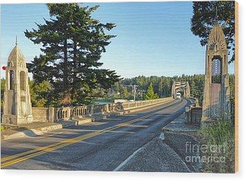 Florence Oregon - Art Deco Bridge - 02 Wood Print by Gregory Dyer