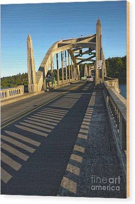Florence Oregon - Art Deco Bridge Wood Print by Gregory Dyer