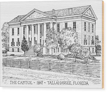 Florida Capitol 1847 Wood Print