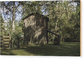 Florida Cracker Barn Wood Print by Lynn Palmer