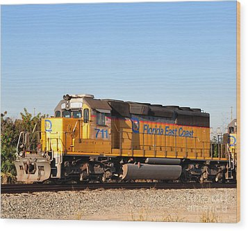 Florida East Coast Sd40-2 711 Wood Print
