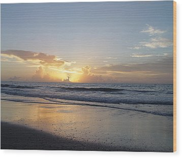 Florida Sunrise  Wood Print by Elizabeth Sullivan