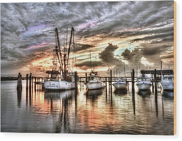 Florida Sunset Wood Print by Brent Craft
