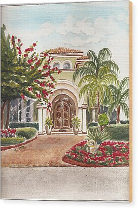 Floridian Ease Wood Print by Andrea Timm