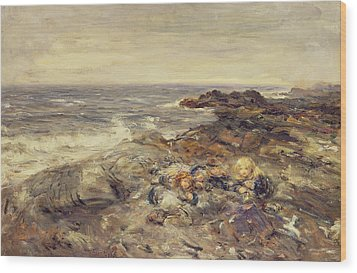 Flotsam And Jetsam Wood Print by William McTaggart