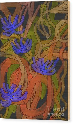 Flourishes Wood Print