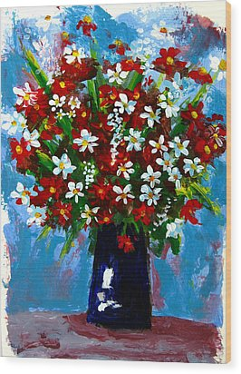 Flower Arrangement Bouquet Wood Print by Patricia Awapara