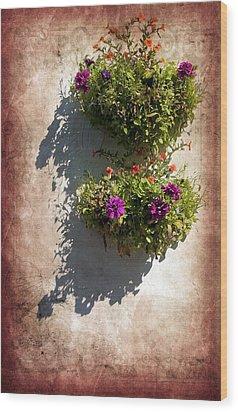 Flower Baskets Wood Print by Svetlana Sewell