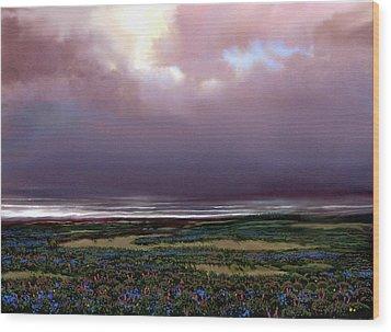 Flower Beach Wood Print by Robert Foster