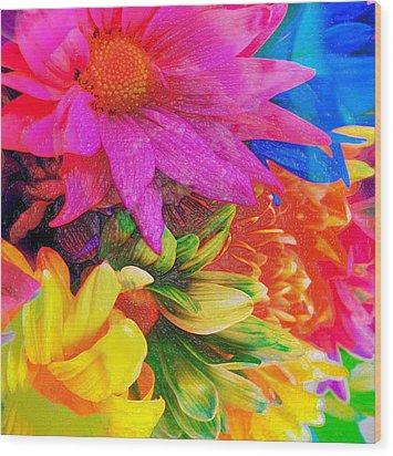 Flower Box Wood Print by Empty Wall