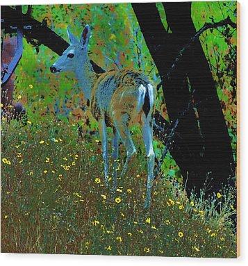 Flower Child Wood Print by Helen Carson