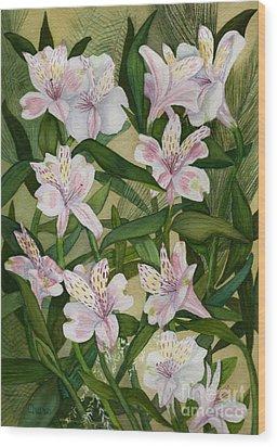 Flower Field Wood Print by Vikki Wicks