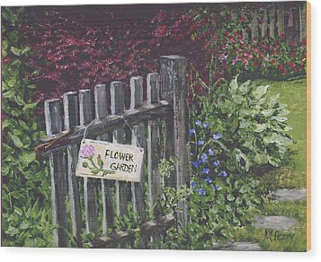 Flower Garden At Fell's Wood Print