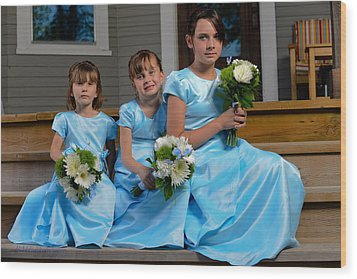 Flower Girls Wood Print