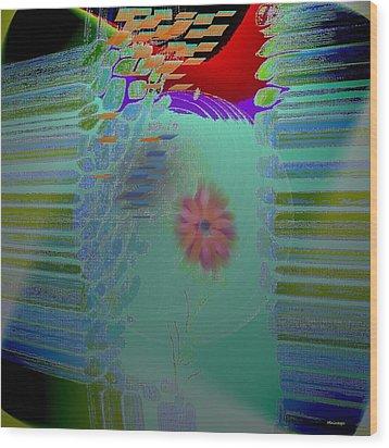 Flower Inside Wood Print by Ines Garay-Colomba