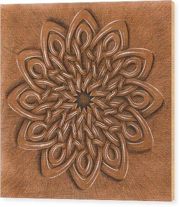 Flower Mandala Wood Print by Hakon Soreide