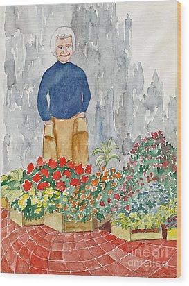 Flower Market France Wood Print by Fred Jinkins