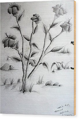 Flower Plant Wood Print by Tanmay Singh