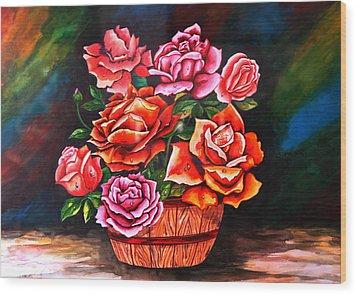 Flower Pot Wood Print by Johnson Moya