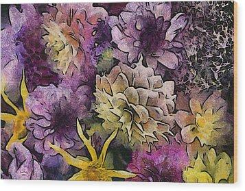 Flower Power Wood Print by Trish Tritz