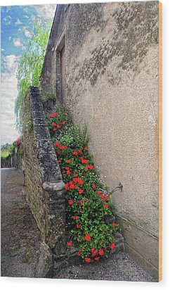 Wood Print featuring the photograph Flower Stairway by Dave Mills