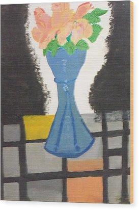 Flower Vase Wood Print by Rahul narasimhan