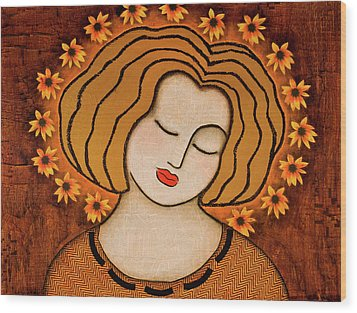 Wood Print featuring the painting Flowering Intuition by Gloria Rothrock