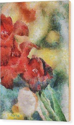 Flowers For Cynthia Wood Print by Trish Tritz